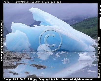 Grounded Giant Iceberg, Glacier Bay National Park, Alaska